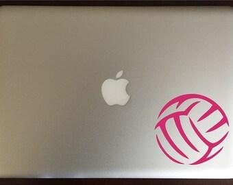 Volleyball Computer Decal Laptop Sticker