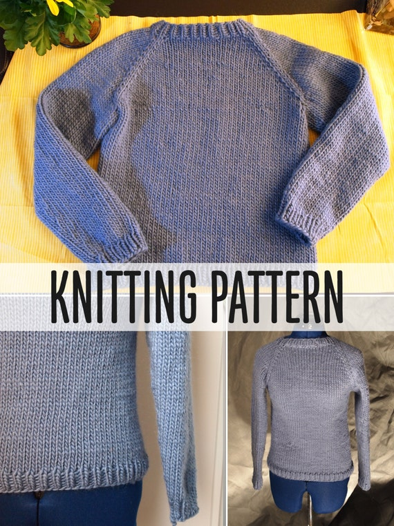 Knitting In The Round Sweater Patterns : Simple sweater knitting pattern one piece no sewing worked