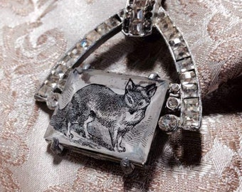 Naturalist's Fox Necklace - assemblage of antique components