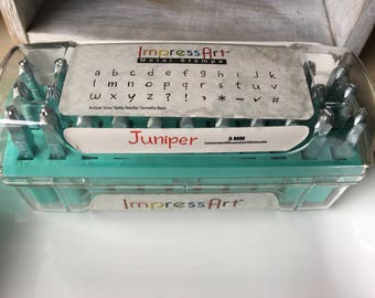 Metal Letter Stamp Set - ImpressArt Juniper - 3mm Lower Case - Lowercase - Very Gently Used