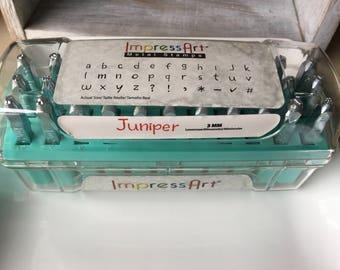 Metal Letter Stamp Set - ImpressArt Juniper - 3mm Lower Case - Lowercase - Very Gently Used