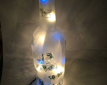 Etched Wine Bottle Night Light