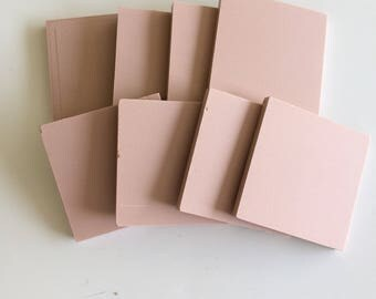 "2""Light Rose Unglazed Ceramic Tile -8pc//unglazed porcelain mosaic tiles"