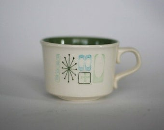 vintage jamaican bay atomic coffee cup mid century