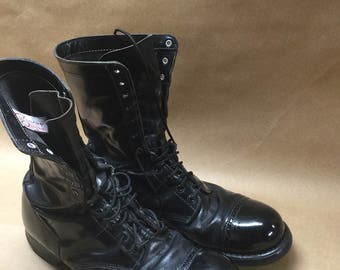 Corcoran Quality Black High Boots Size 12---Combat Boots Style