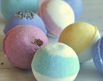Bath Bombs - 10 for 30 - Essential Oil Bath Bombs - Save on Shipping! Your choice of scents!