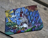 Disney's Beauty and the Beast Stain Glass Castle grab-n-go credit card wallet