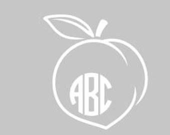 Personalized peach vinyl window decal