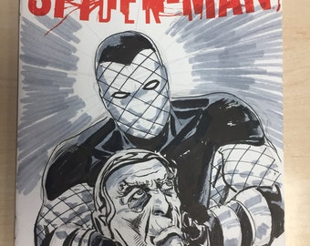 Shocker and Silvermane sketch-cover by Steve Lieber