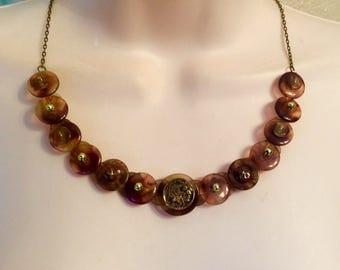 Native American button necklace