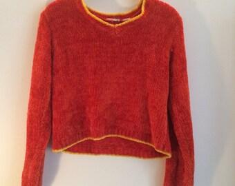 90s Fuzzy Crop Sweater
