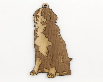 Burnese Mountain Dog Ornament from Timber Green Woods. Made in the U.S.A! - Personalize with Your Dog's Name! - MAPLE WOOD - Nice Gift Idea.