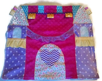 Princess Castle Security Blanket, Princess Castle Baby Blanket, Princess Castle Lovey, Lovie, Woobie, Baby Shower Gift, READY TO SHIP