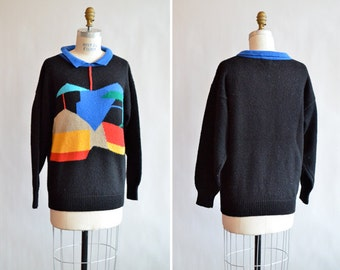 Vintage 1980s NOVELTY print sweater