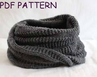 Cowl KNITTING PATTERN- Giant Cozy Snood PDF knitting pattern