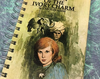 Nancy Drew JOURNAL Mystery of the Ivory Charm Recycled book journal
