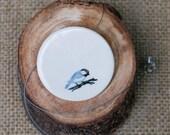 Little Blue Bird Porcelain Necklace, Ceramic Jewellery, Mrs Peterson Pottery