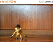 reserved for kate SALE 25% OFF vintage mid century sveistrup wood monkey figurine