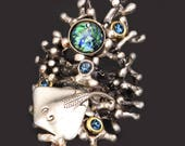Stingray Ring Coral Ring Coral Reef Coral Branch Opal Ring Sting Ray