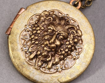 Photo Locket Necklace Lion Necklace Lion Locket Picture Locket Necklace