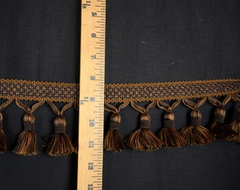Chocolate Brown Tassel Trim BF 4005 06