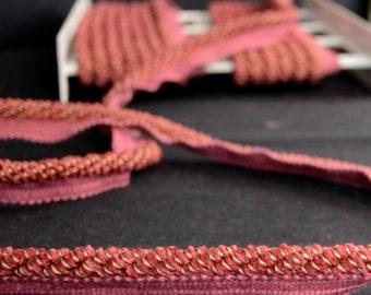 Chenille Red Lip Cord Fabricut Trim