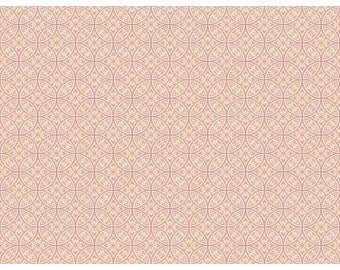 AP7438 Pink Lacey Circle Geometric Wallpaper