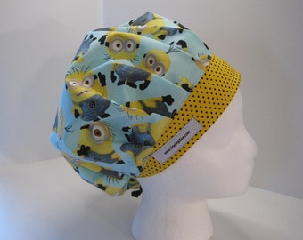 Minions Scrub Hat - OR scrub hat -Bouffant Scrub Hat - Surgical Scrub Hat - Surgical Cap - Gift for Nurses - Medical Scrub Hat #zsb001