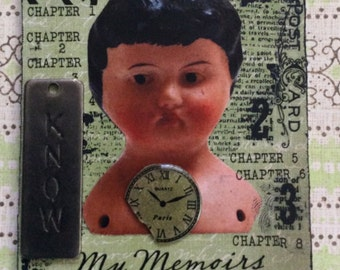 Memoirs Of An Old Doll  Mixed Media  AcEo