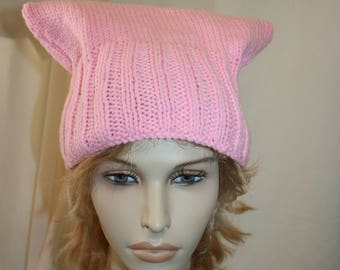 """Hand knitted Trump """"Pussy"""" Hat"""
