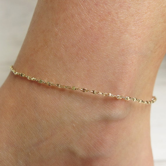 gold anklet chain anklet ankle bracelet beach anklets by ...