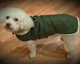 Waterproof, insulated, breathable, Olive Green, Sherpa Lined  Dog Winter Jacket, Dog Coat, Dog Jackets, Dog Jacket