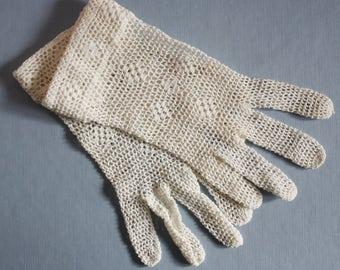 Ladies Crochet Lace Gloves