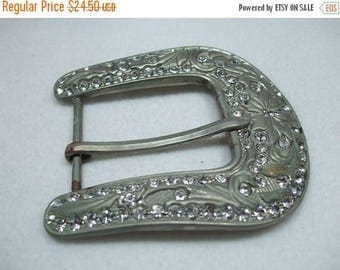 SALE 50% OFF Vintage Huge Rhinestone Belt Buckle