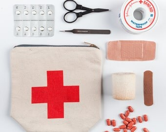 First Aid canvas pouch