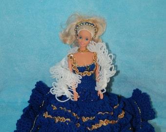 Crochet Birthday Barbie dress/Sapphire/September/Annie's Attic