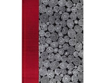 Address Book Large Silver Flowers