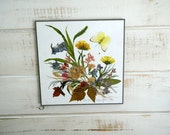 Henni Original Hand Made Wall Plaque - Vintage Organic Art Collage - Made In Canada