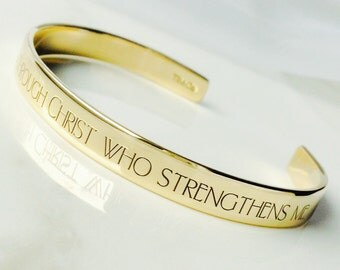 I Can Do All Things Bracelet . Inspirational Jewelry . Daily Reminder Jewelry . #TBCO