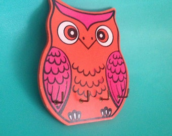 Bright Owl Keyholder Wall Hooks