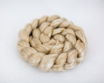 Baby Camel/Cultivated Silk Roving - 4 oz