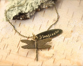 Dragonfly Imagine Necklace
