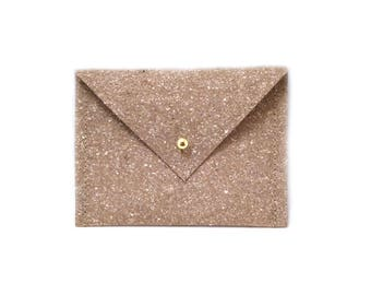 Light brown case from Releda / recycled leather, card holder for business cards, customer cards, loose change, party purses