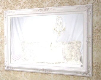 Baby girl nursery decor shabby chic mirror for sale teal blue for White framed mirrors for sale
