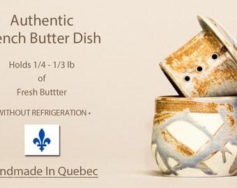 Authentic French Butter Dish, Lidded Butter Dish, French Butter Dish, Beurrier Breton, Butter Crock, Cloche de Beurre, Soft Butter Keeper