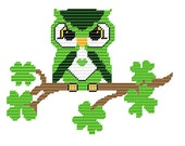 Plastic Canvas Irish Owl Pattern Wall Hanging