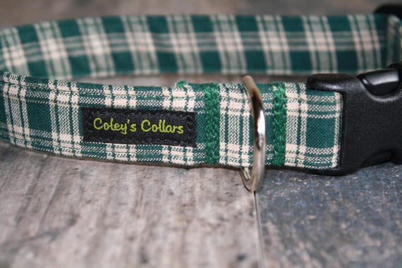 "Plaid Dog Collar ""The Matthew"""