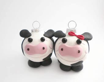 Cow Mini Christmas Ornaments, FREE SHIPPING