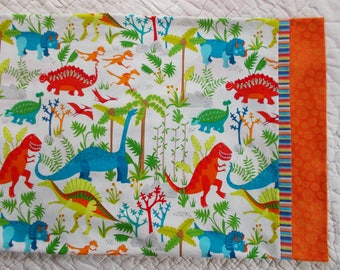 Dinosaurs Childrens or Travel  Pillow Case