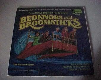 1971 Walt Disney's Bedknobs and Broomsticks Book and LP Vinyl Record